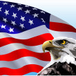 Bald Eagle American Flag — Stockvectorbeeld