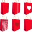 Red bags — Stock Vector