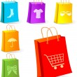 Shopping bags - Imagens vectoriais em stock