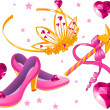 Royalty-Free Stock Imagen vectorial: Princess Collectibles