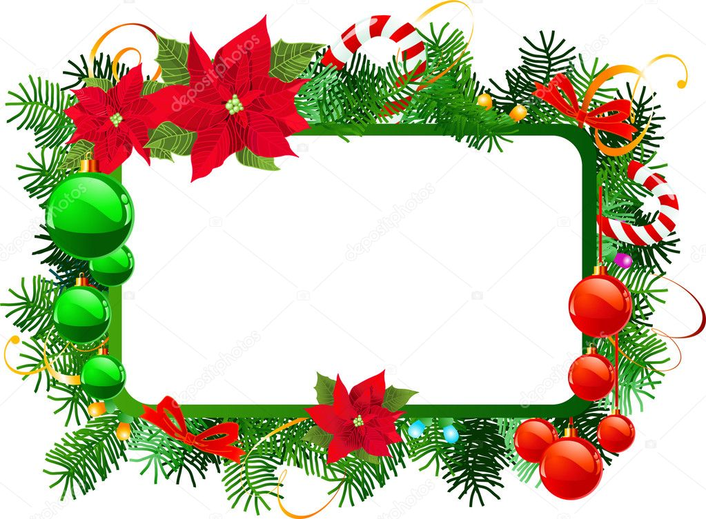 Hand-Decorated Custom Christmas Picture Frames by Dana