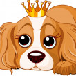Stock Vector: Royalty dog