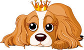 Royalty dog — Vector de stock