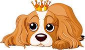 Royalty dog — Stock Vector