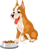 Cão com fome — Vetorial Stock
