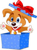 Puppy box — Stock Vector