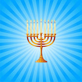 Hanukkah background with Menorah — Stock Vector