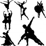 Ballet silhouettes — Stock Vector