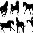 Horse Silhouette Collection — Stock Vector #1262912