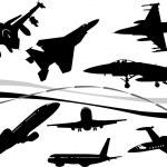 avião c — Vetorial Stock  #1262961