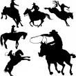 Vector de stock : Cowboys