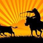 Riding cowboy — Stock Vector #1262991