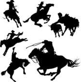 Cowboys — Stock Vector