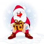 Santa dając prezent — Wektor stockowy
