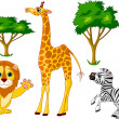 Stock Vector: Wild animals 1