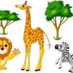 animales salvajes 1 — Vector de stock