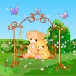 Stock Vector: Spring bears