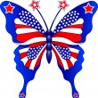 USA butterfly — Stock Vector