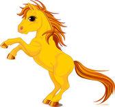 Yellow horse — Stock Vector
