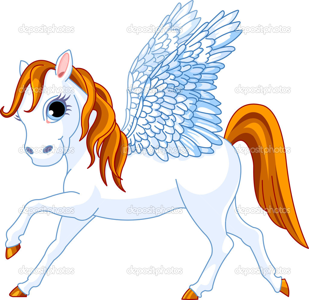 Cute winged horse of Greek mythology  Stock Vector #1289978
