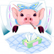 Vector de stock : Pig Flu