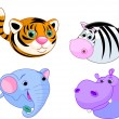 Royalty-Free Stock Imagen vectorial: Safari animal set