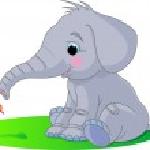 lindo bebé elefante — Vector de stock