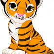 Stock Vector: Cute tiger cub