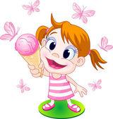 Ice Cream Girl — Stock Vector