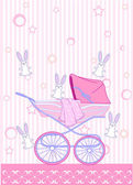 Pink carriage — Stock Vector