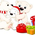 クリスマスの家族 — ストックベクタ