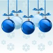 Royalty-Free Stock Vector Image: Christmas balls background
