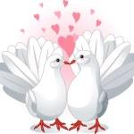 Love Doves — Stock Vector