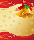 Cartão de natal sinos — Vetorial Stock