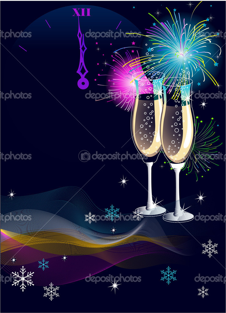 New Year's Eve celebration  vector background with place for copy/text — Stock Vector #1403150