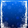 Blue Grunge Winter Background — Imagen vectorial