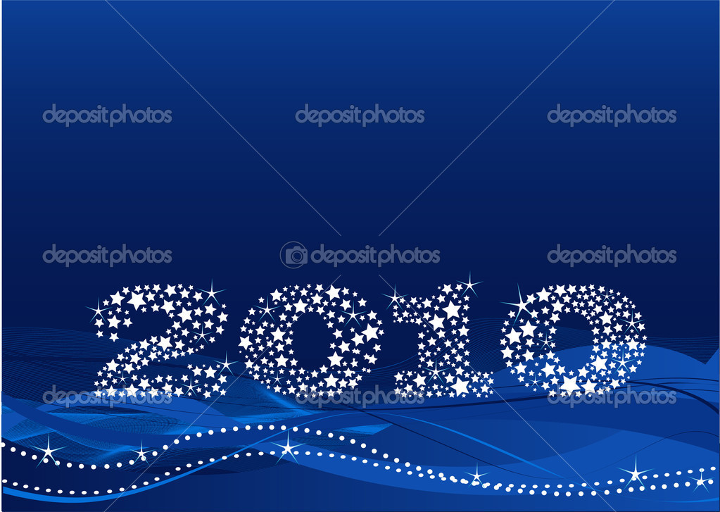 New year's eve background made of stars — Stock Vector #1491884