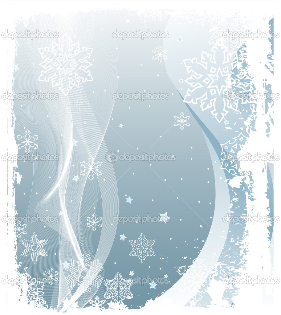 Illustration of Grunge Snowing Winter Background — Image vectorielle #1491885