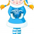 Royalty-Free Stock Vector Image: Winter girl