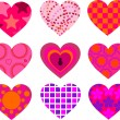 Royalty-Free Stock Vector Image: Patterned Hearts