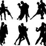 Tango dancers silhouettes — Stock Vector #1522901