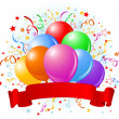 Royalty-Free Stock Obraz wektorowy: Birthday balloons design