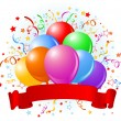 Royalty-Free Stock Imagem Vetorial: Birthday balloons design