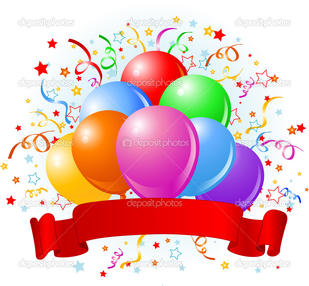 Birthday balloons design — Stock Vector © Dazdraperma #1522903