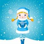 dziewczyna zima śnieg — Wektor stockowy