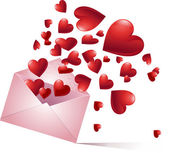 Bursting hearts — Stock Vector