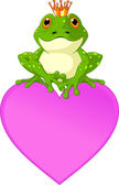 Heart Frog — Stock Vector