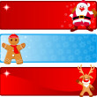 Christmas horizontal Banners — Stockvektor