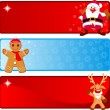 Christmas horizontal Banners — Stock Vector #1609584