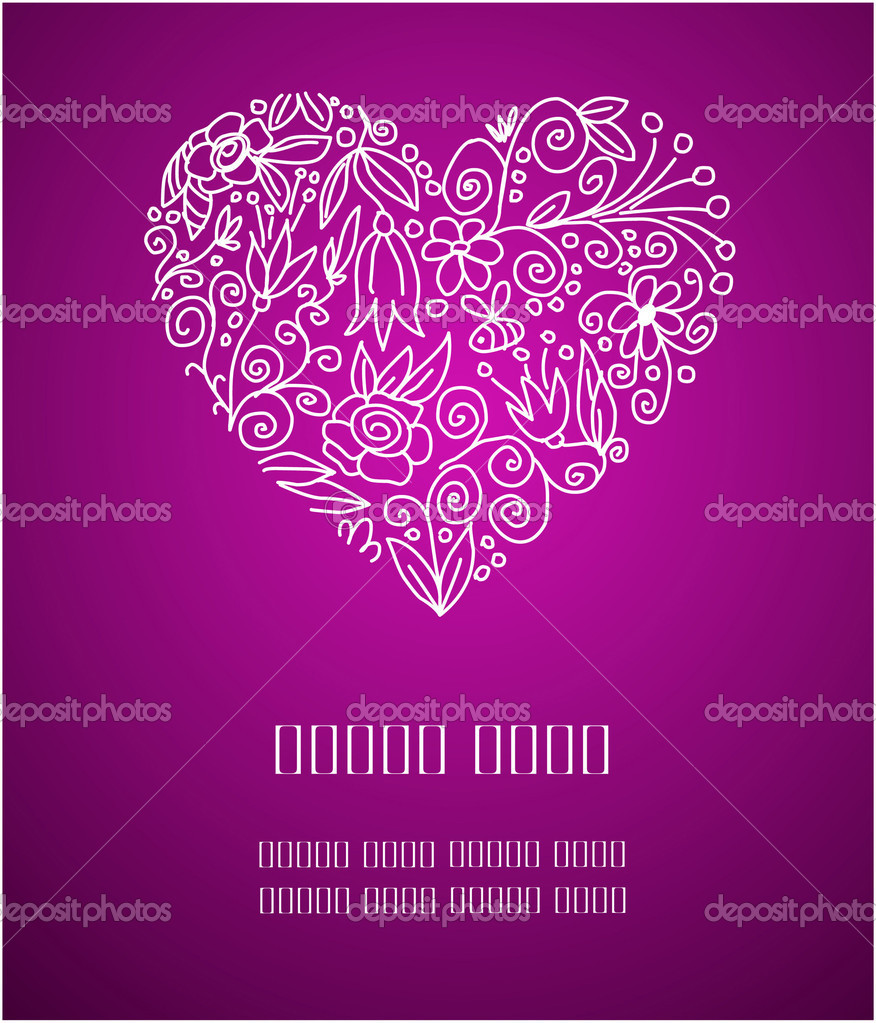 Place for your Valentine greetings on purple background — Imagen vectorial #1694220